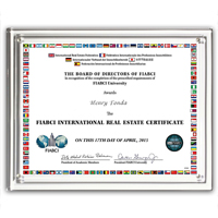 "Magnetic Certificate Holder - Clear on Clear - 8 1/2"" x 11"" Insert"
